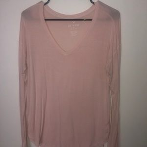 Long sleeve pink American Eagle shirt